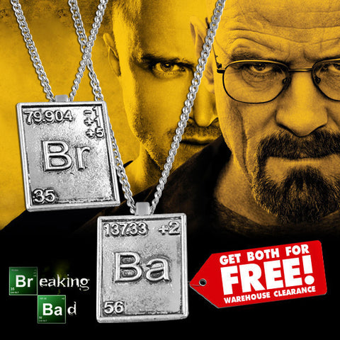 BREAKING BAD CHEMICAL SYMBOL NECKLACE
