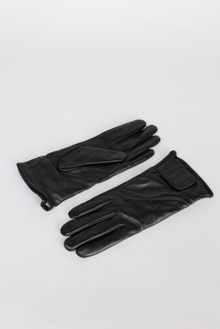 York Ladies Black Leather Gloves