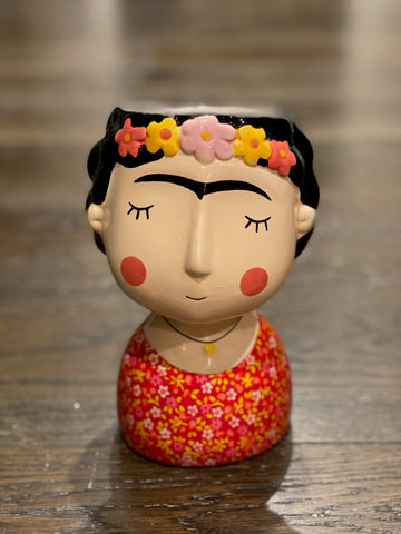 Frida Vase Red 19cm x 12cm x 12cm