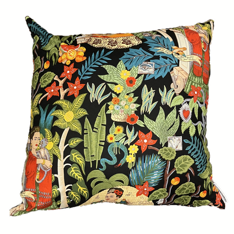 Fridas Garden Black Cushion