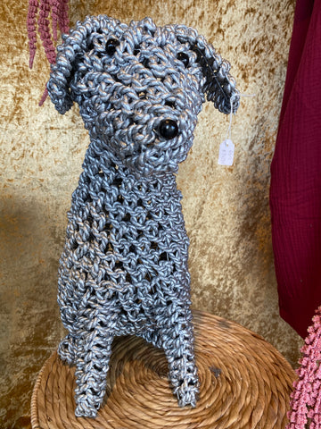 Rope Puppy Silver Rattan