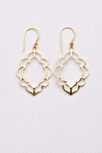 Iris Earring  14 K Plated Gold
