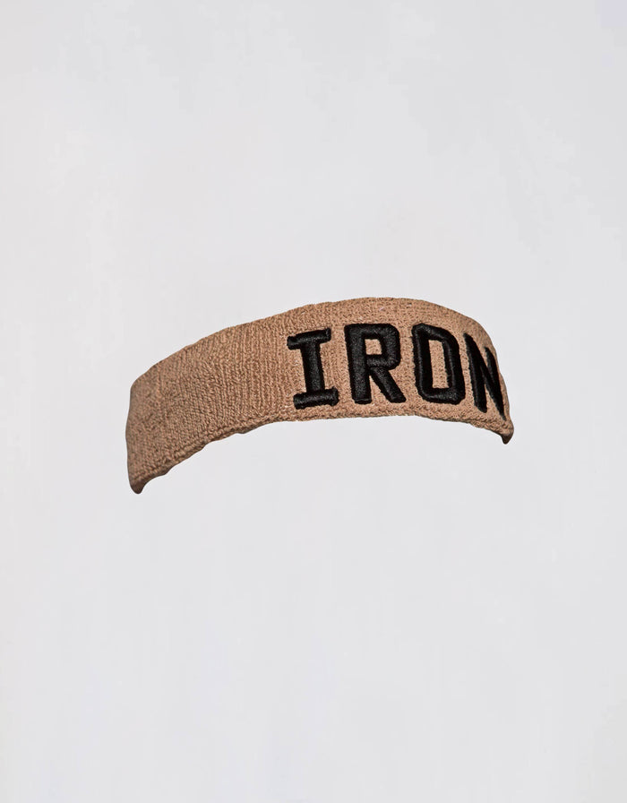 IRON Headband -Taupe - Golden Aesthetics