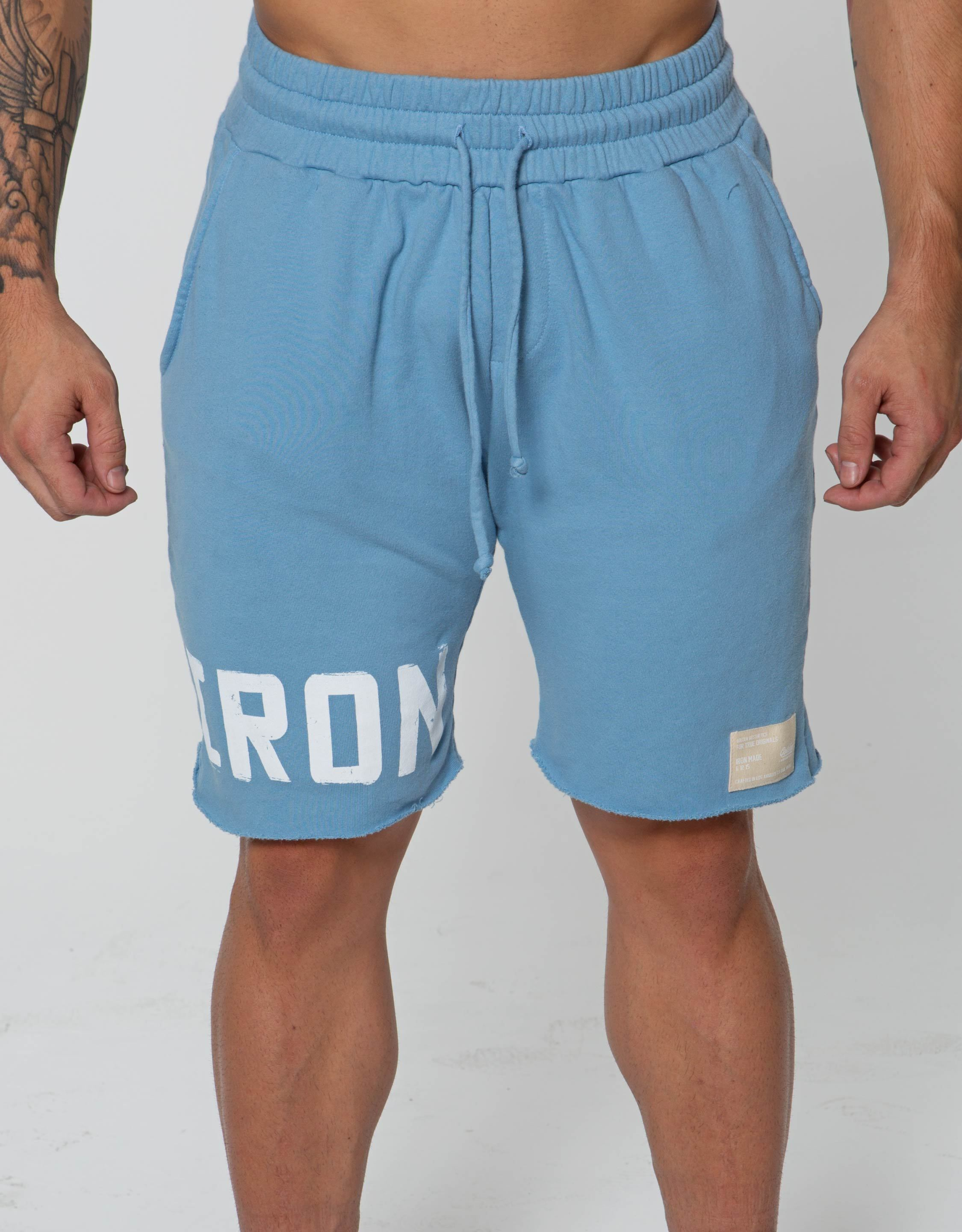 IRON Raw Shorts - Faded Blue - Golden Aesthetics