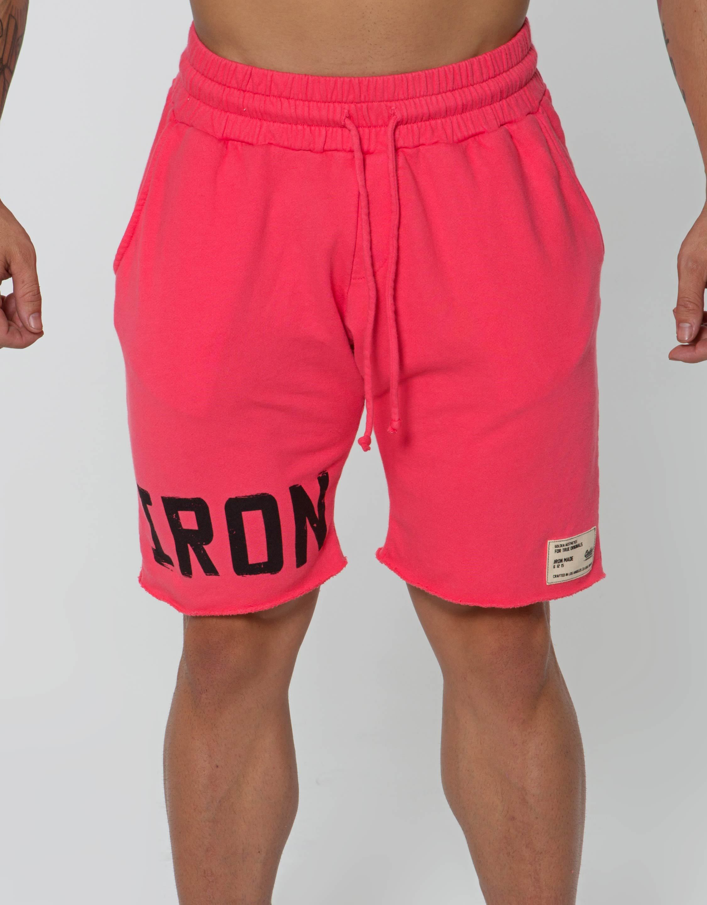 IRON Raw Shorts - Faded Red - Golden Aesthetics