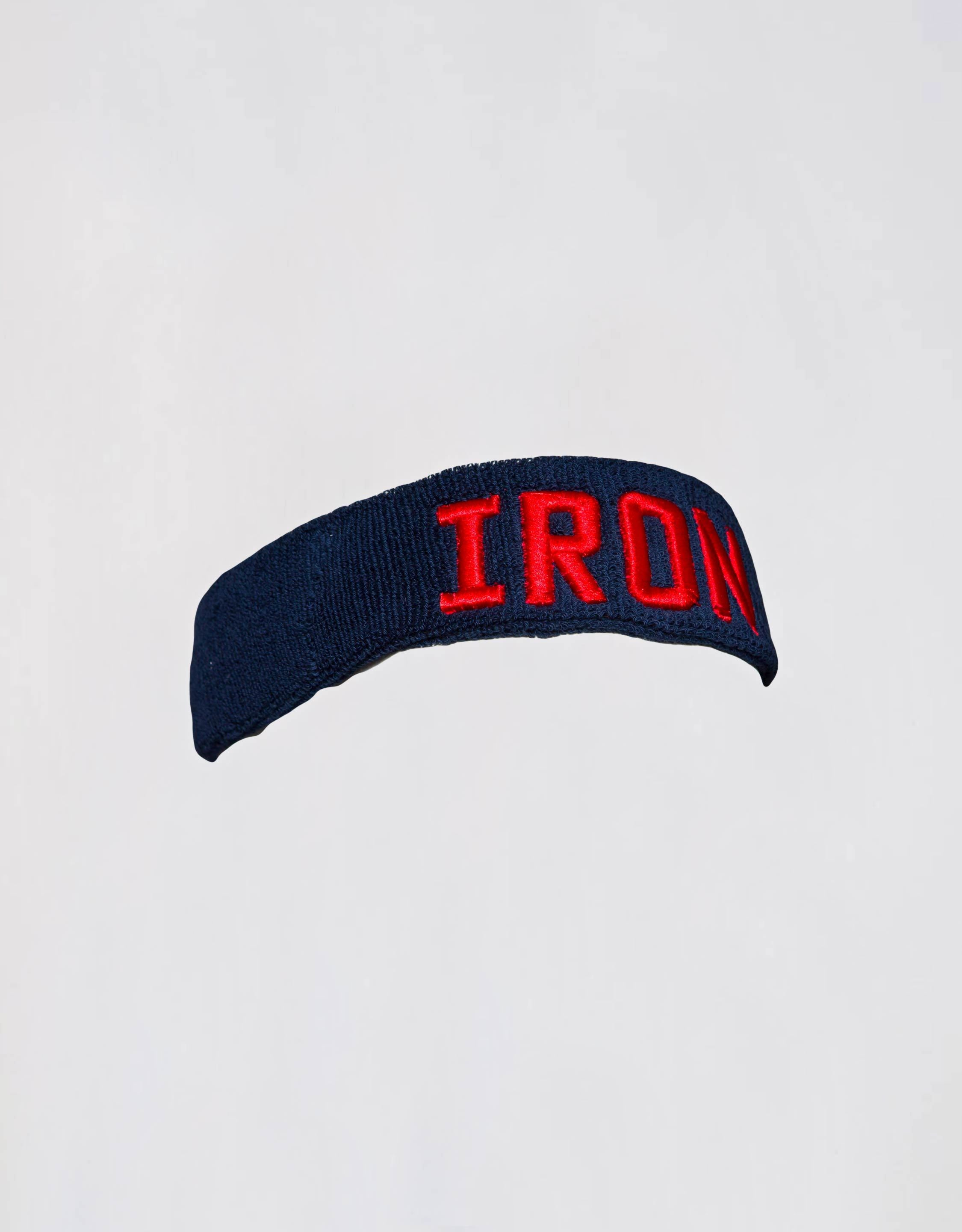 Iron Headband - Dark Blue/red - Hat