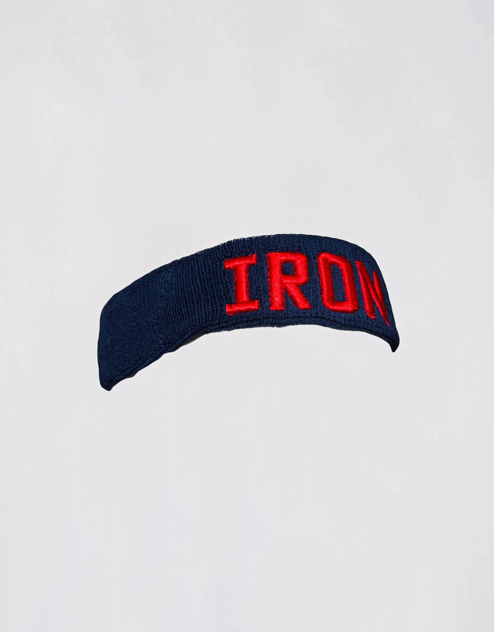 IRON Headband - Dark Blue/Red - Golden Aesthetics