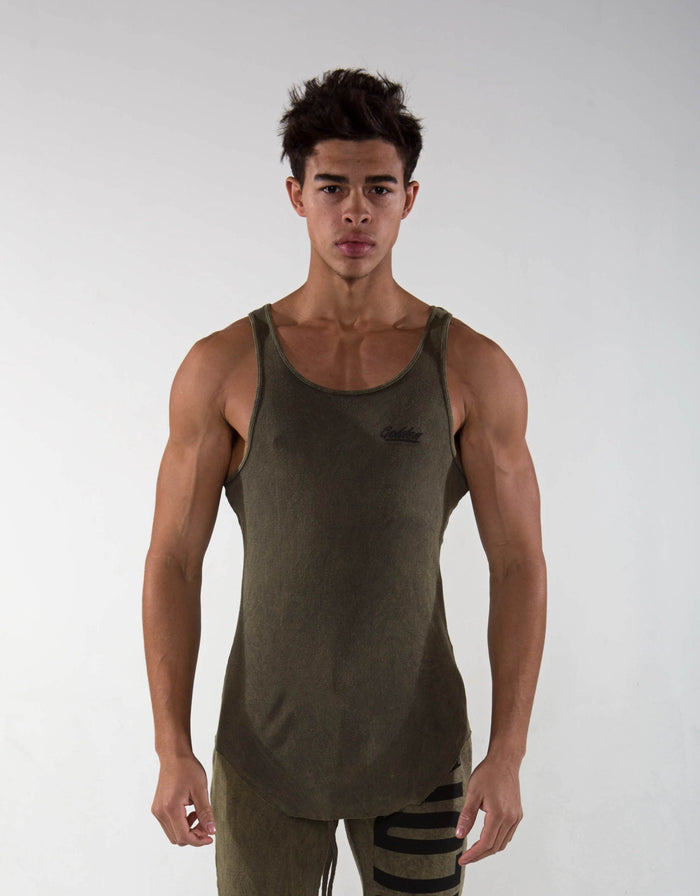 Golden Aesthetics Ribbed Tank - Mineral Olive