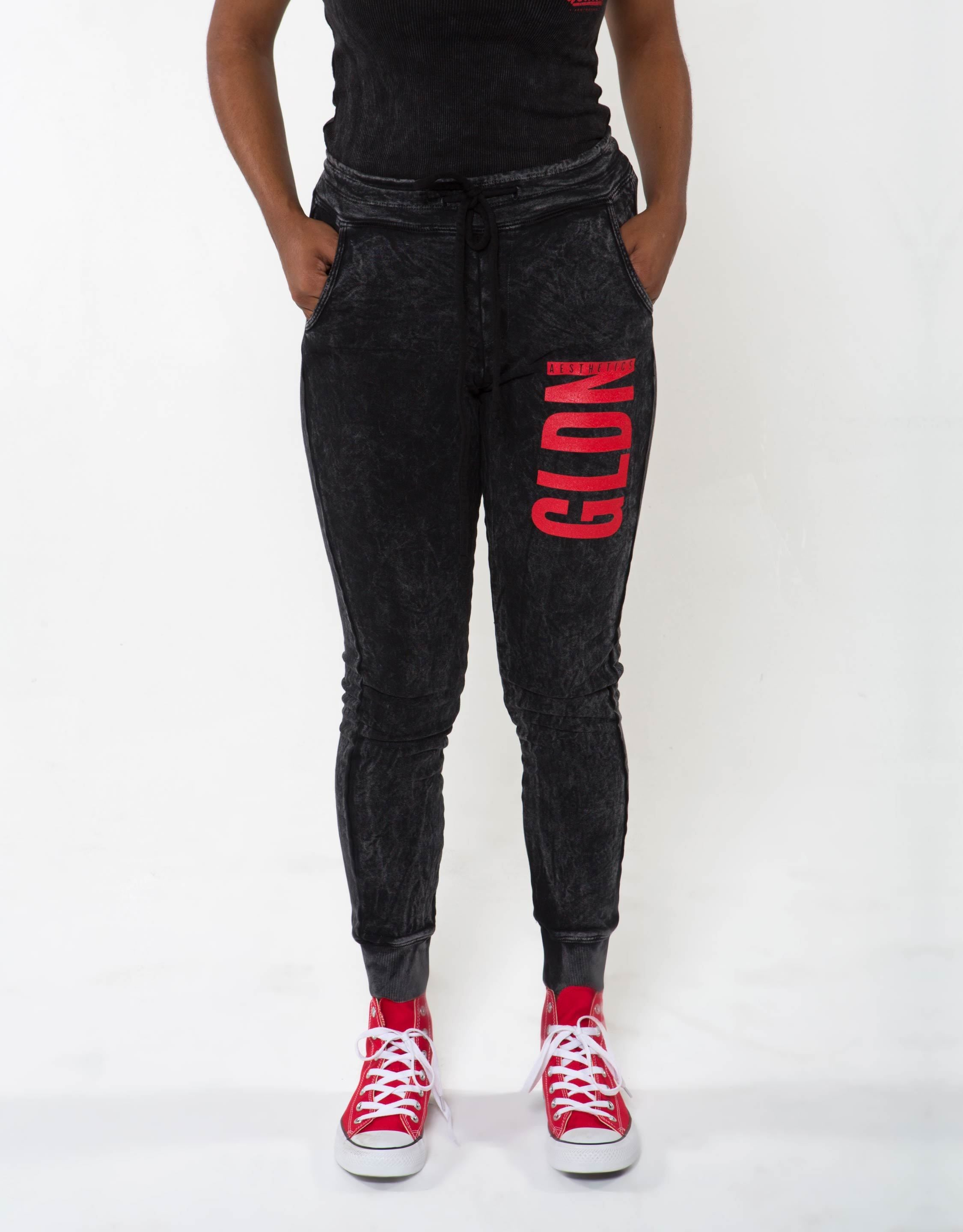 GA Her Joggers - Black - Golden Aesthetics