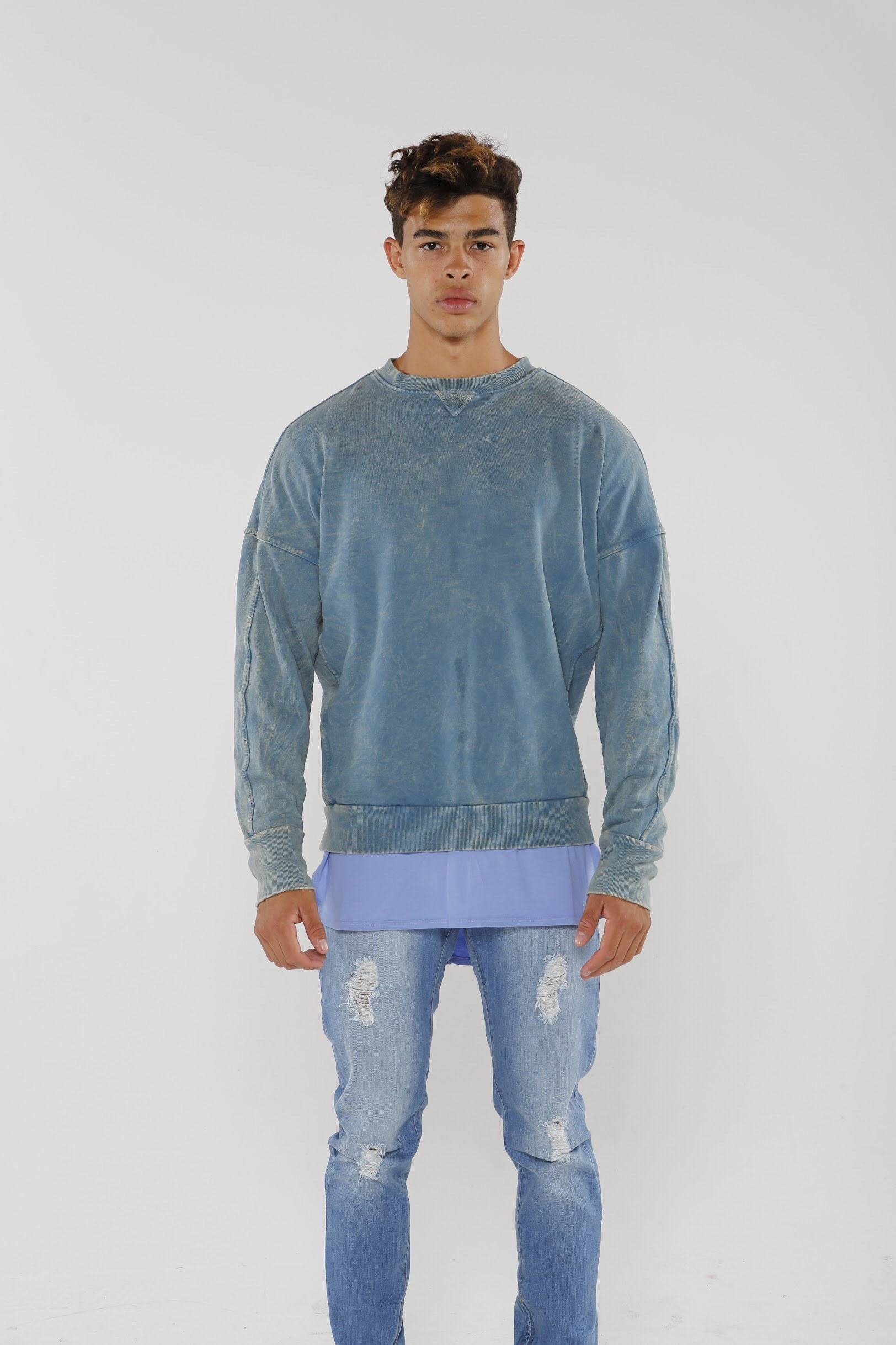 Section Sweater - Faded Blue - Golden Aesthetics