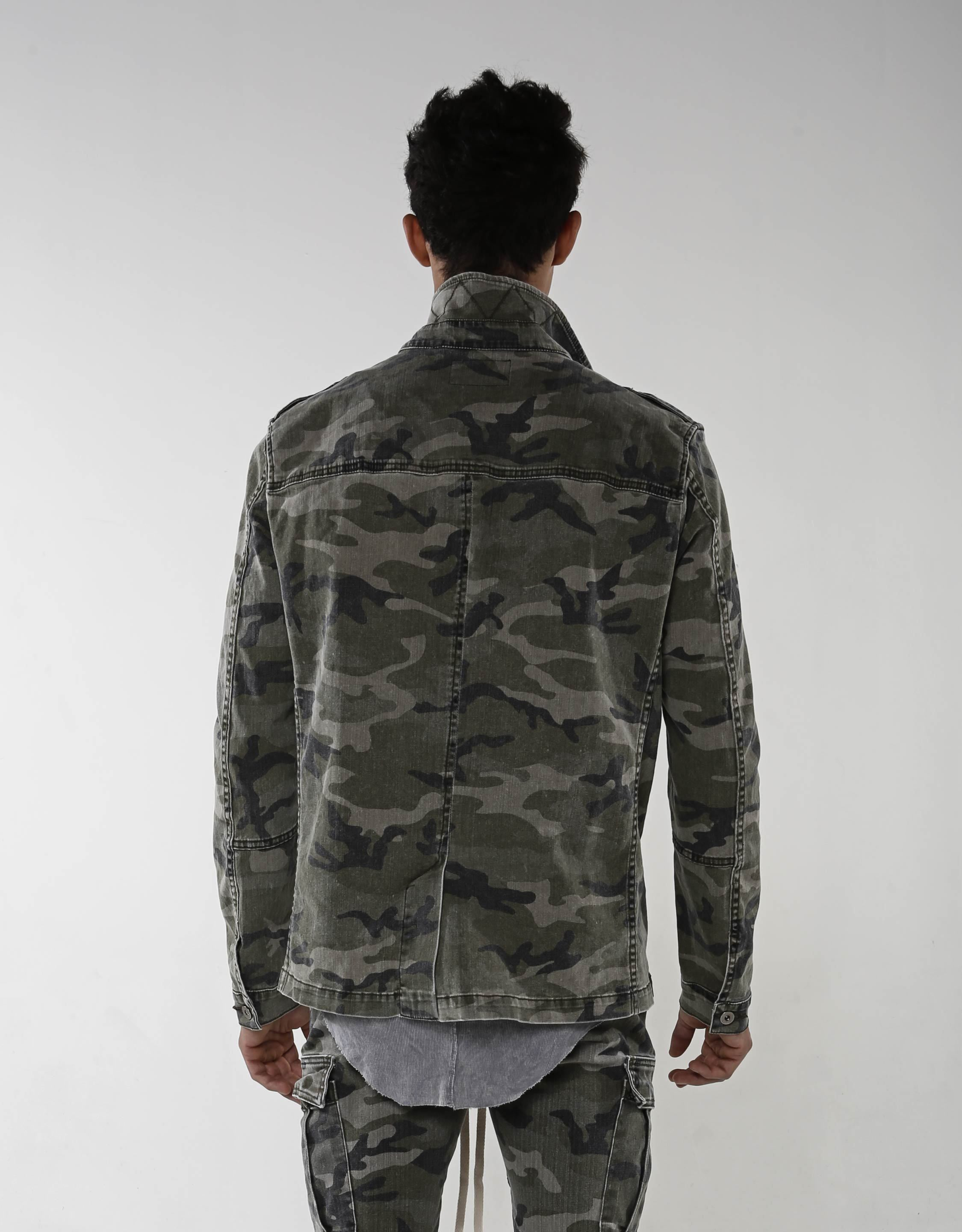 Panel Jacket - Faded Camo - Golden Aesthetics
