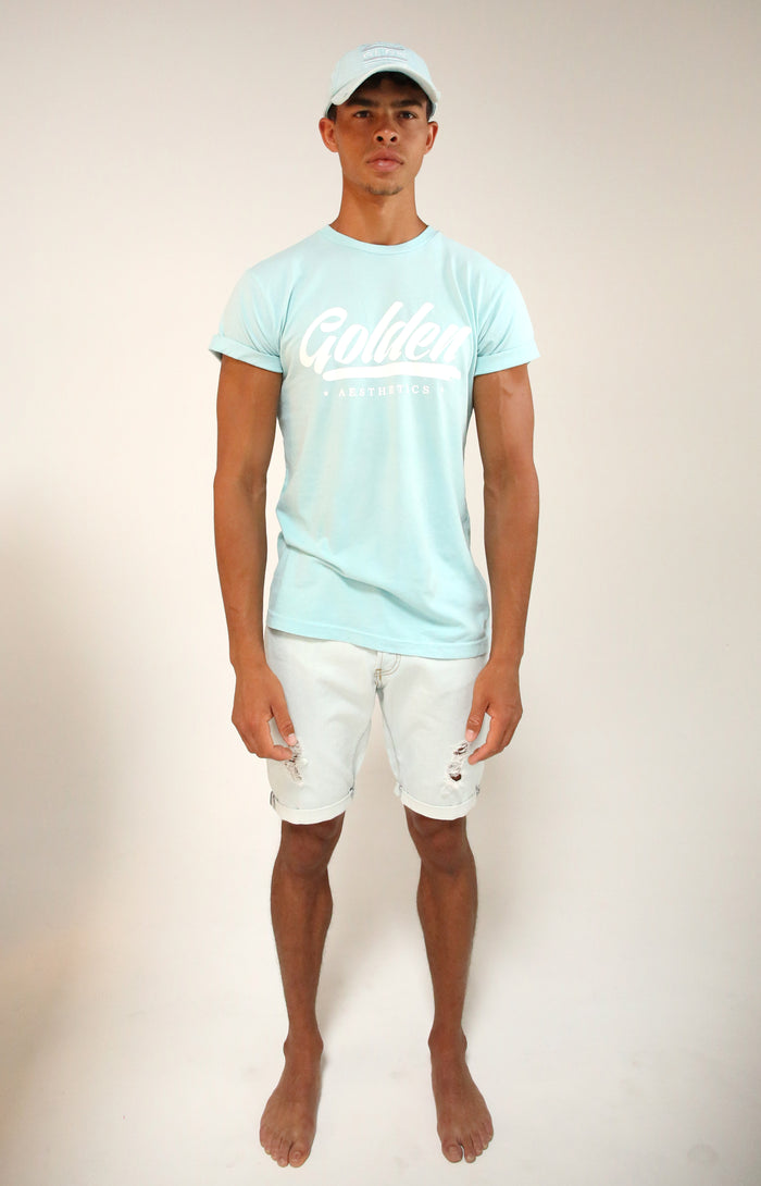 Blue Water Rolled Sleeve T-Shirt