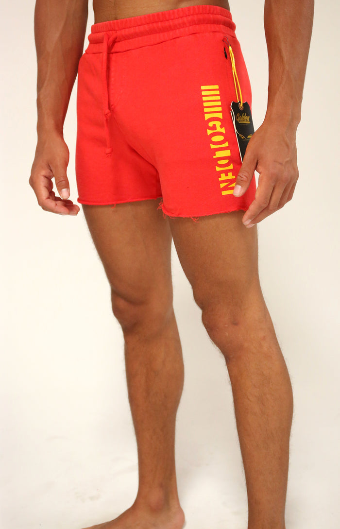 Red/Gold Short CLassic Shorts