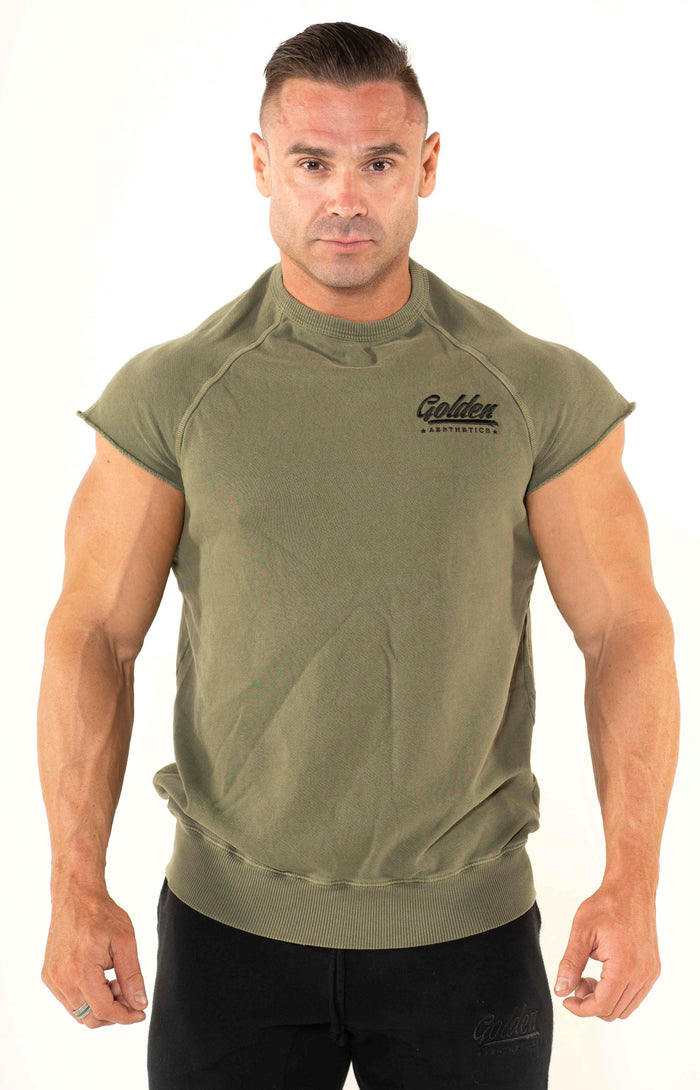 Men's Olive Classic Top - Golden Aesthetics