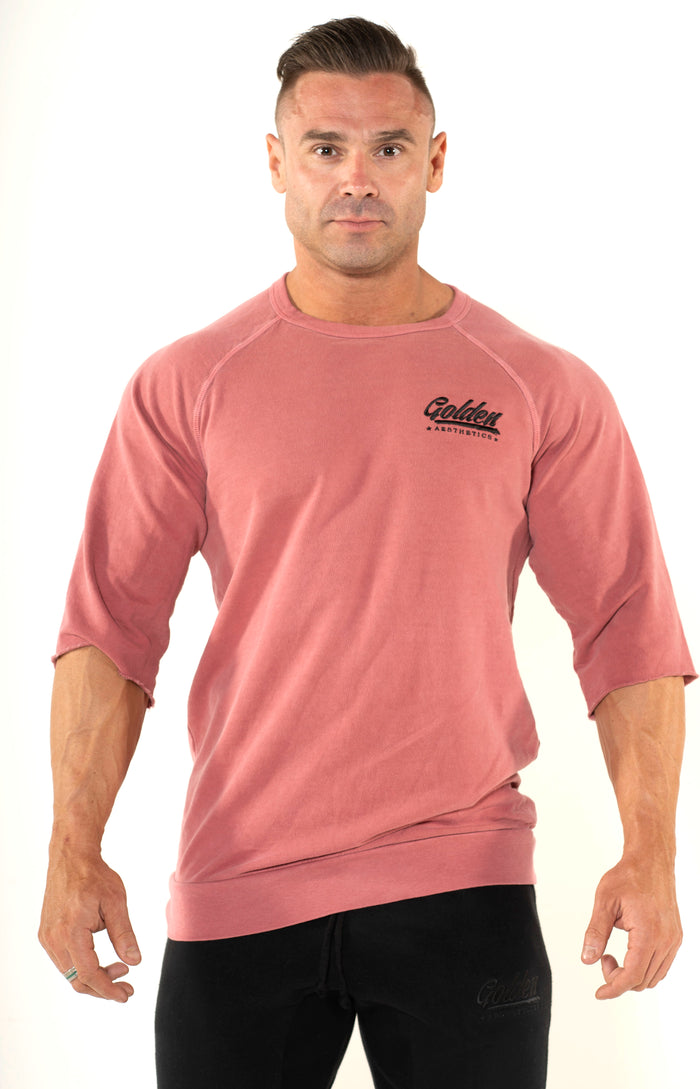 Men's Wine Raglan Top - Golden Aesthetics