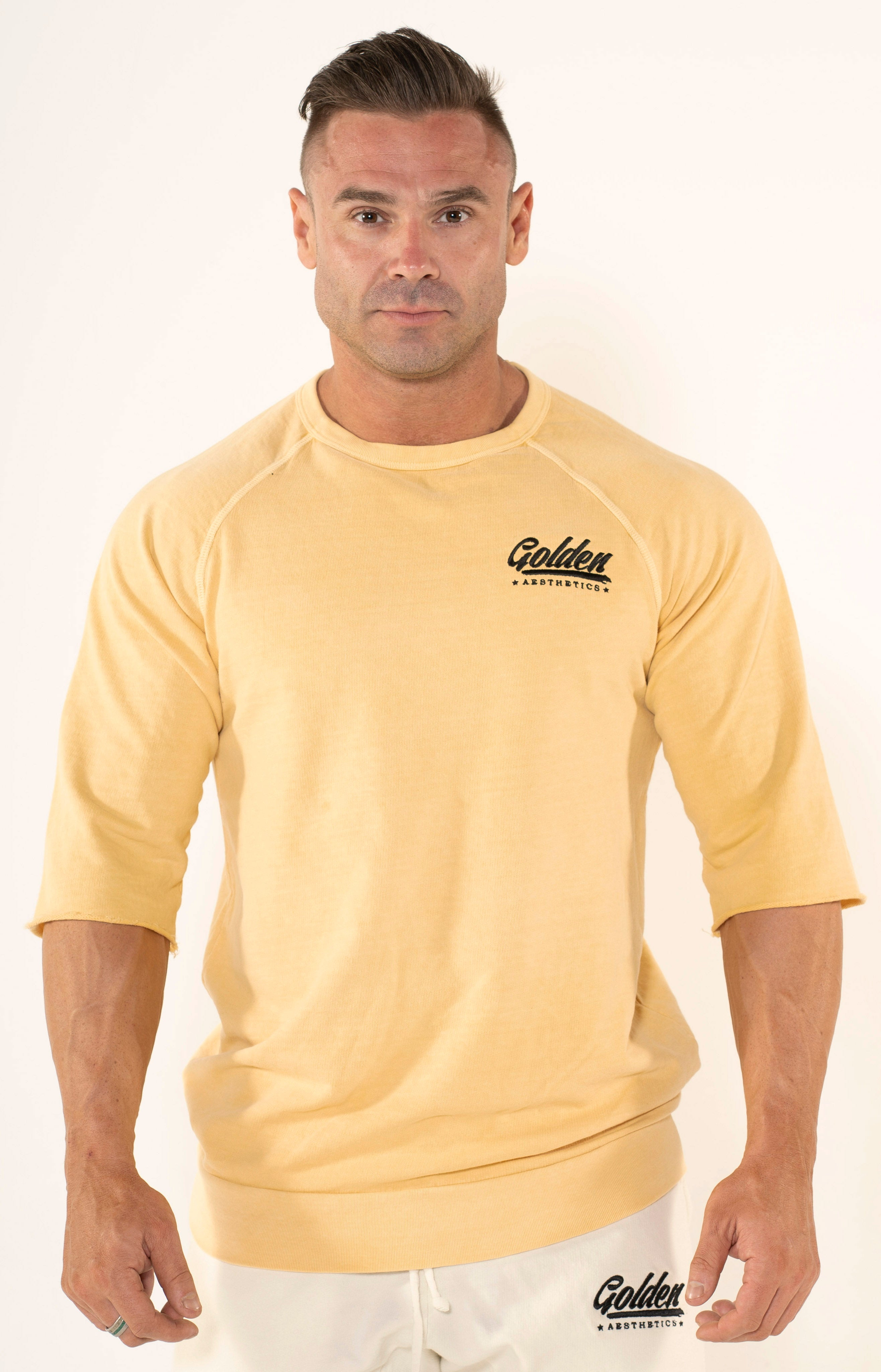 Men's Pineapple Raglan Top - Golden Aesthetics