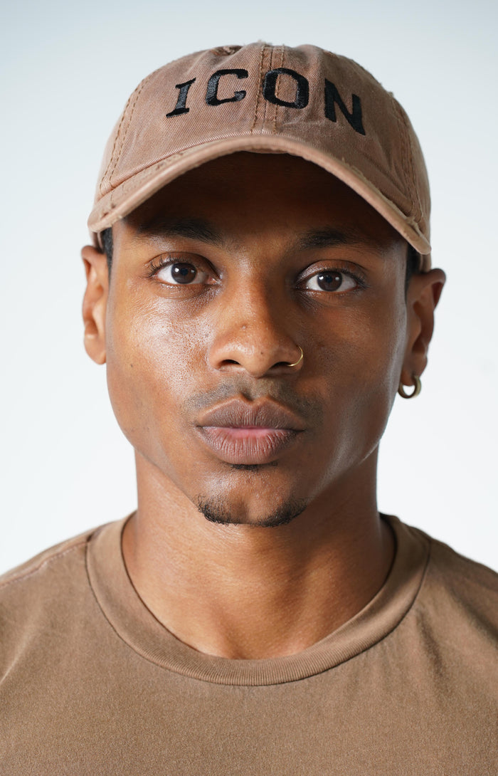 Brown Icon Vintage Hat