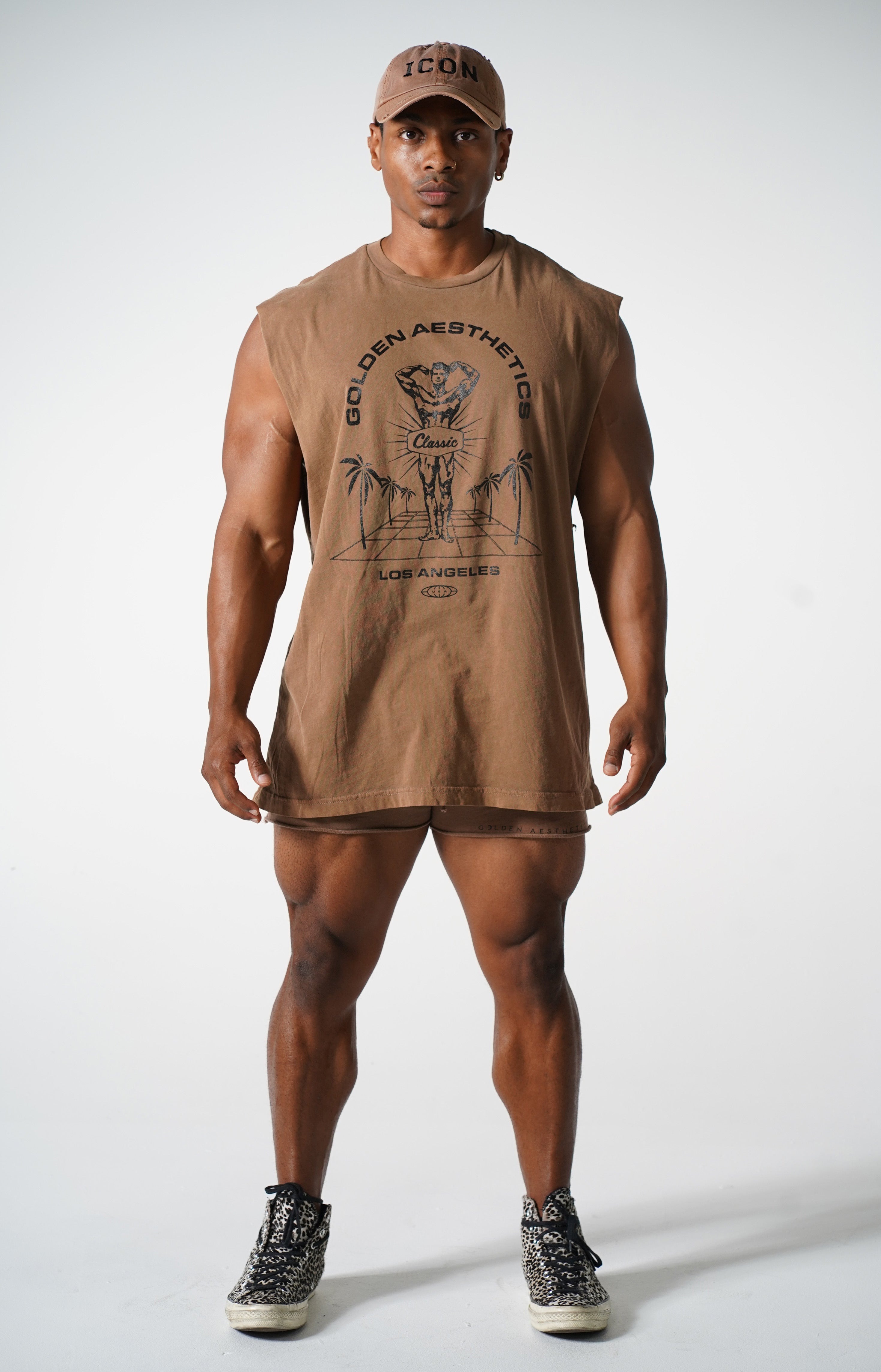 Oversized Brown Classic Reeves Muscle Tank