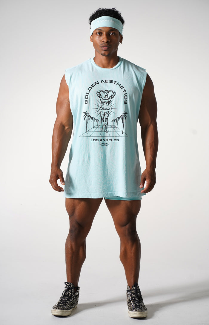 Oversized Blue Water Classic Reeves Muscle Tank