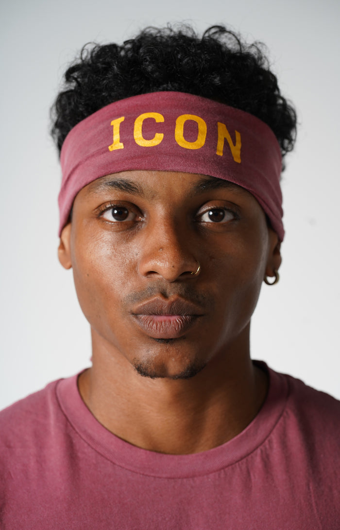 Faded Wine Icon Headband