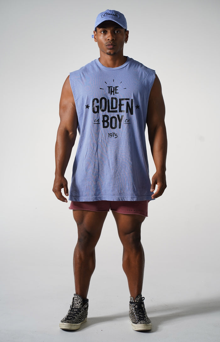 Oversized Faded Purple The Golden Boy Muscle Tank