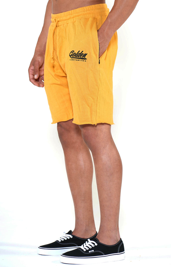 Men's Mustard Classic Shorts - Golden Aesthetics