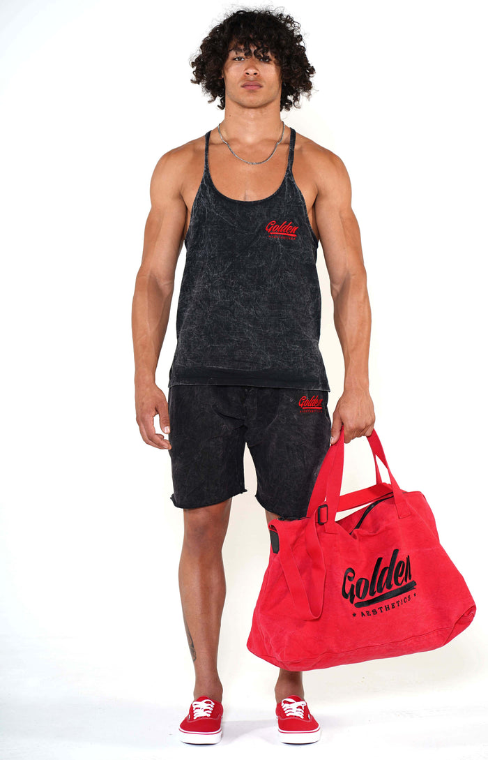 Golden Aesthetics Red Gym Bag - Golden Aesthetics