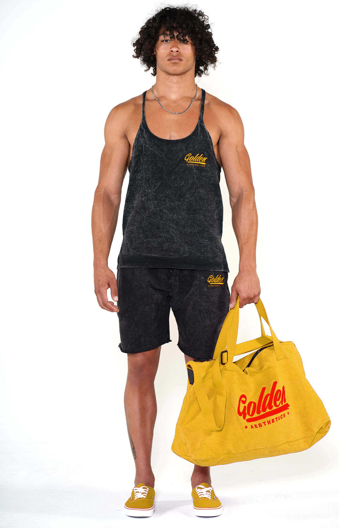Golden Aesthetics Mustard Gym Bag - Golden Aesthetics