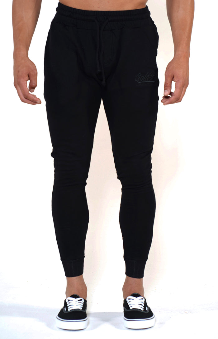 Men's Black Classic Joggers - Golden Aesthetics