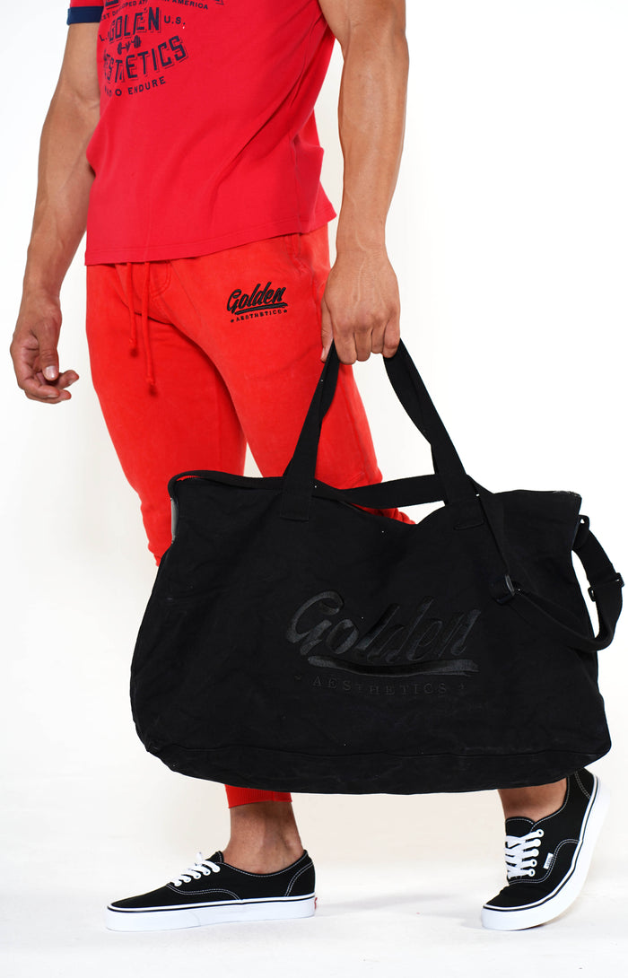 Golden Aesthetics Black Gym Bag - Golden Aesthetics