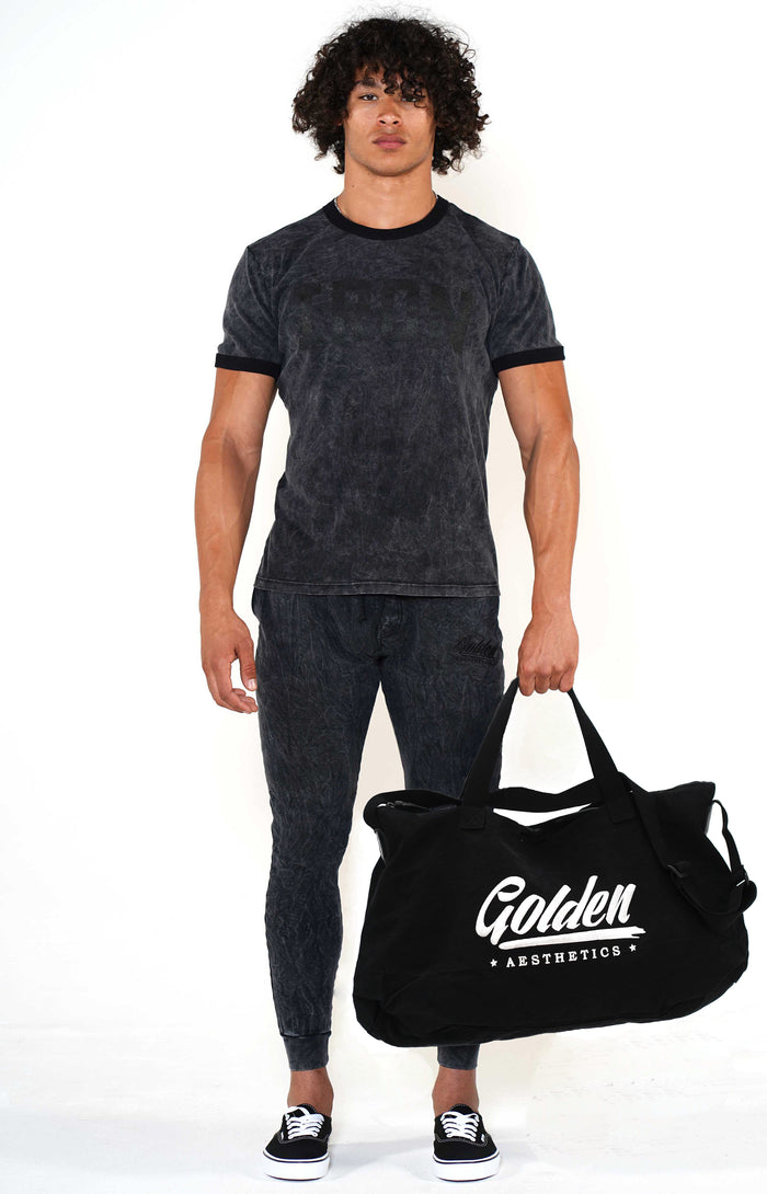 Golden Aesthetics Black/White Gym Bag