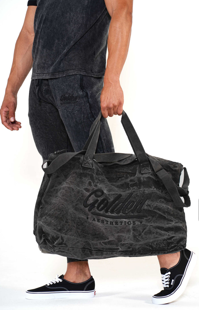 Golden Aesthetics Grey Gym Bag