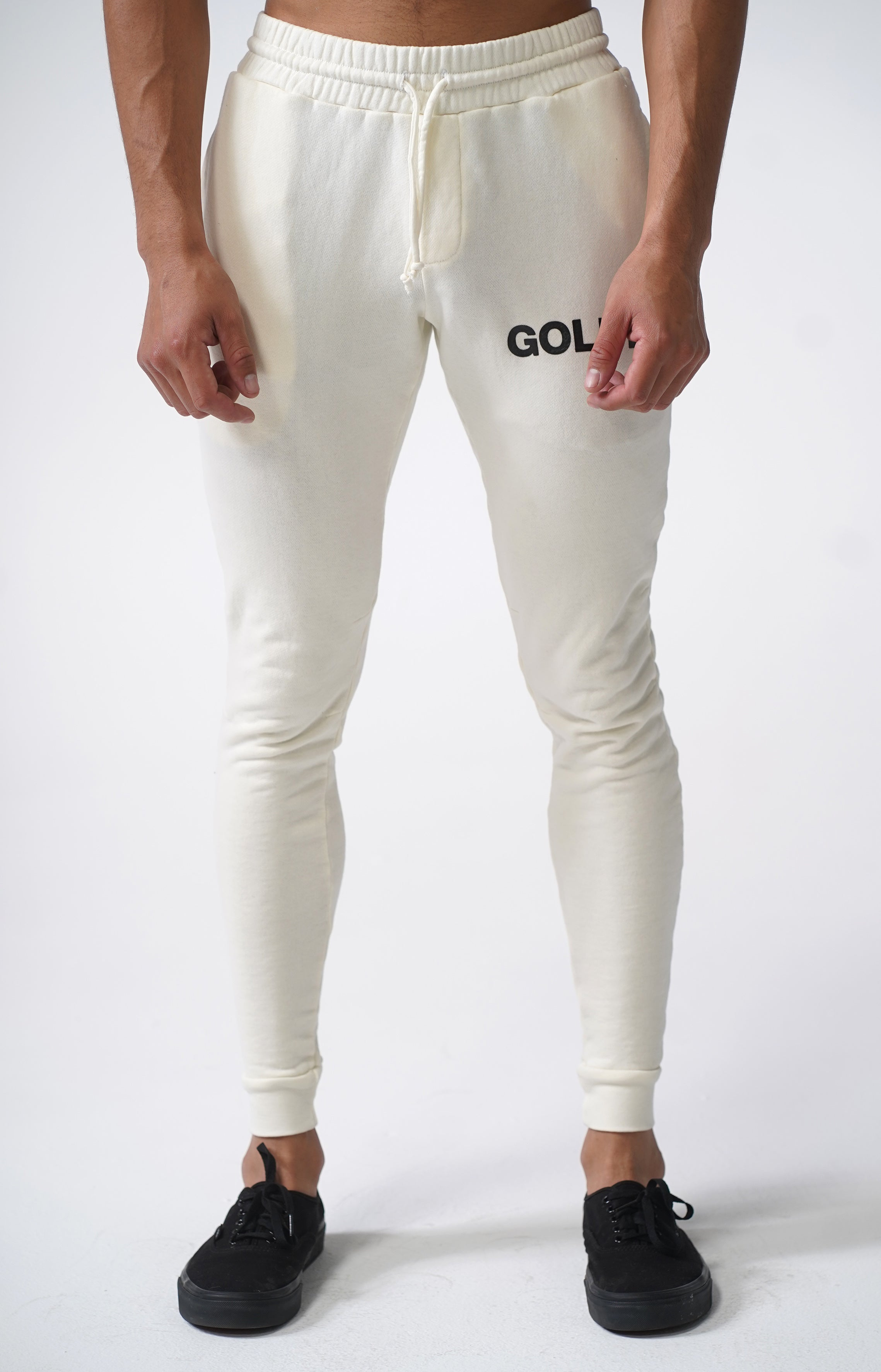 Off White Golden Joggers