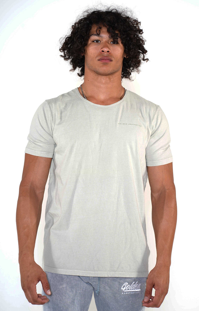 Men's Sage Scoop Neck T-Shirt - Golden Aesthetics