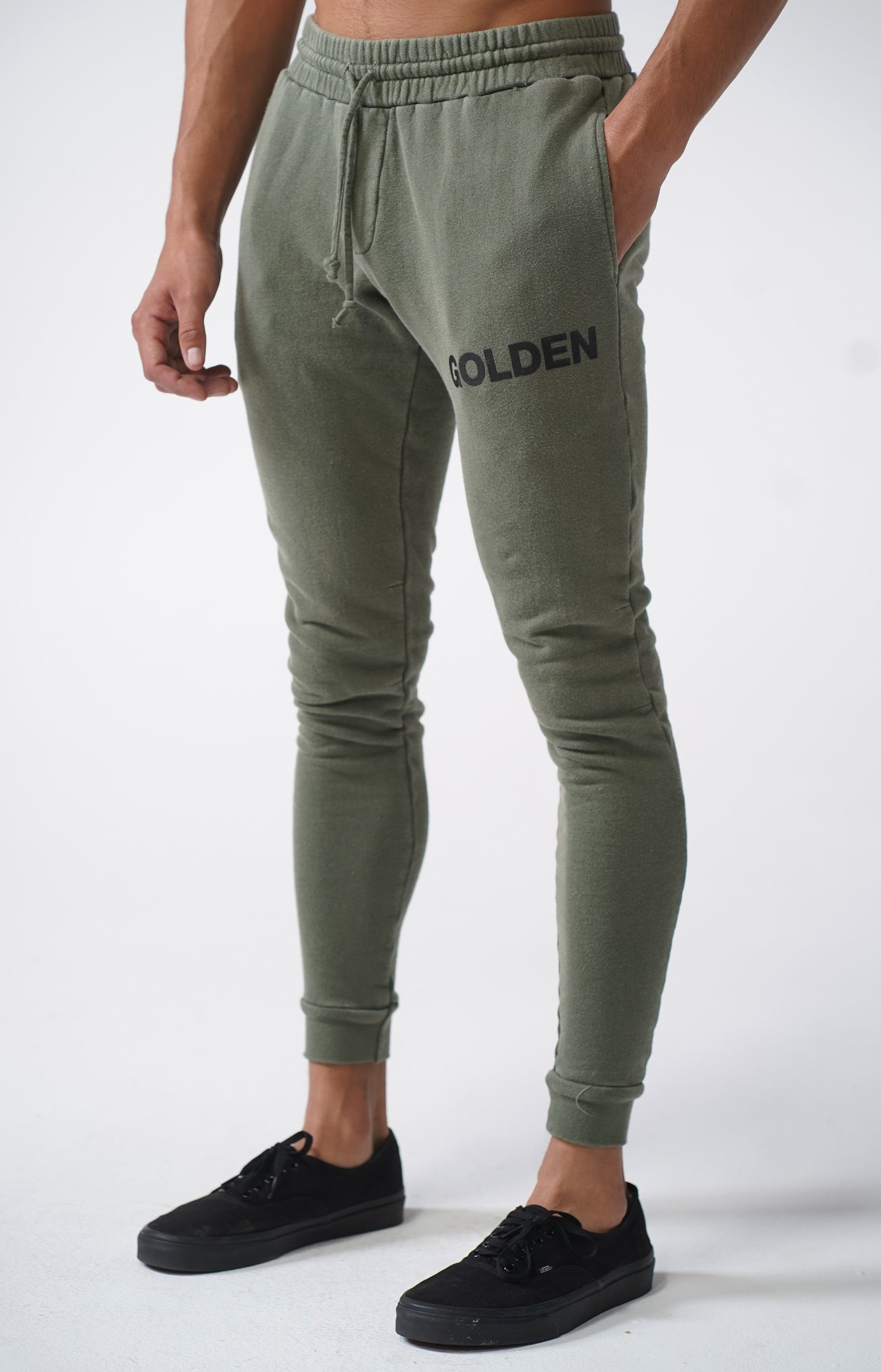 Vintage Army Golden Joggers