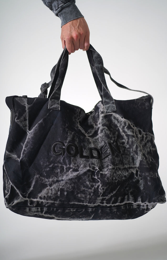 Golden Aesthetics Mineral Black Gym Bag