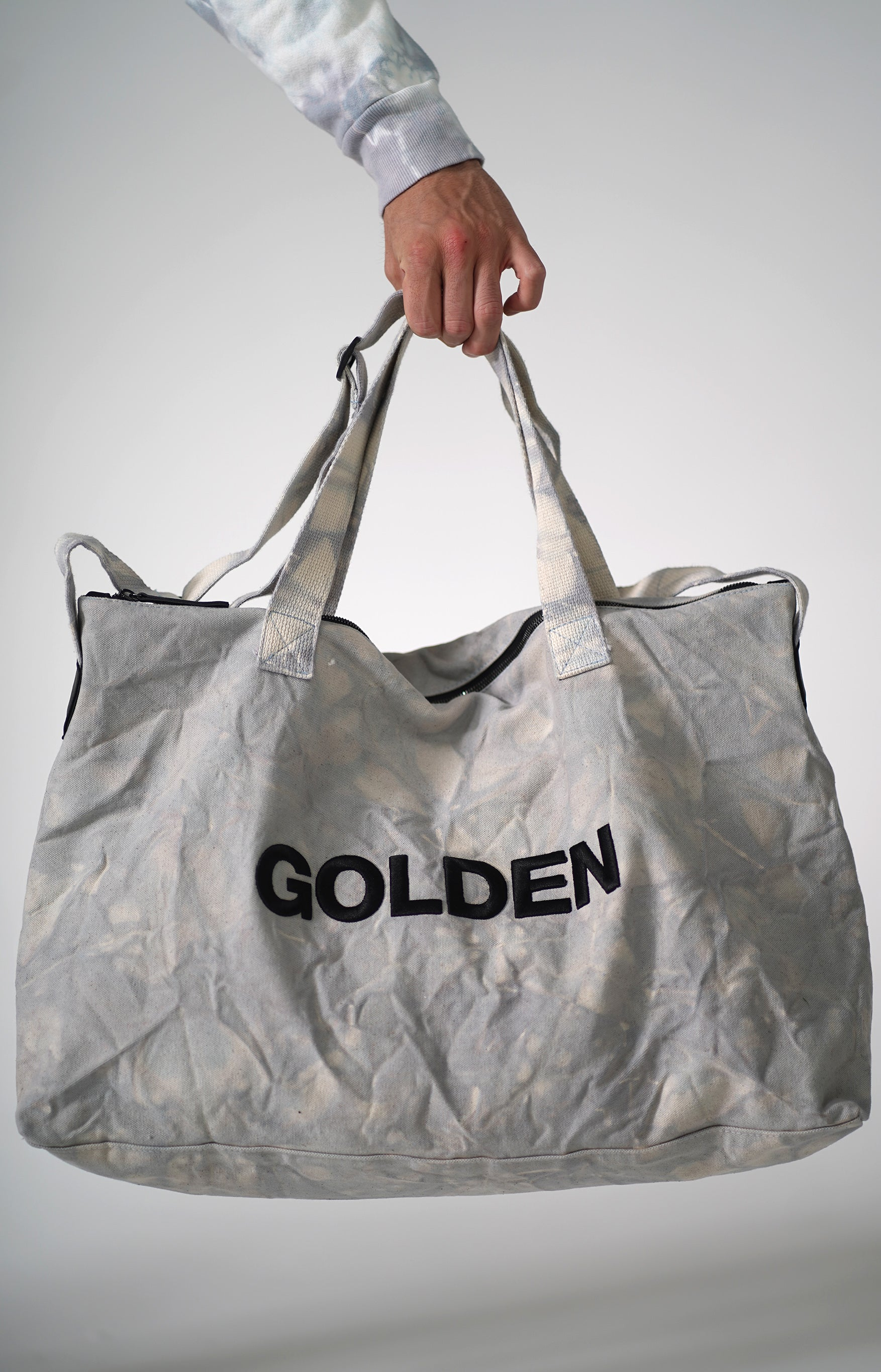 Golden Aesthetics Diamond Tie Dye Gym Bag