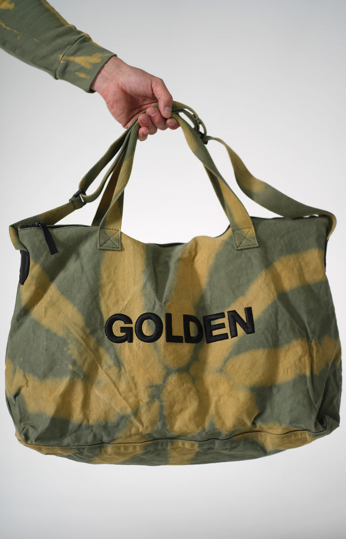 Golden Aesthetics Olive Tie Dye Gym Bag