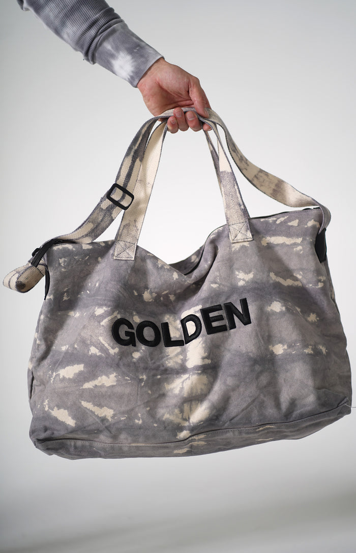 Golden Aesthetics Strip Tie Dye Gym Bag