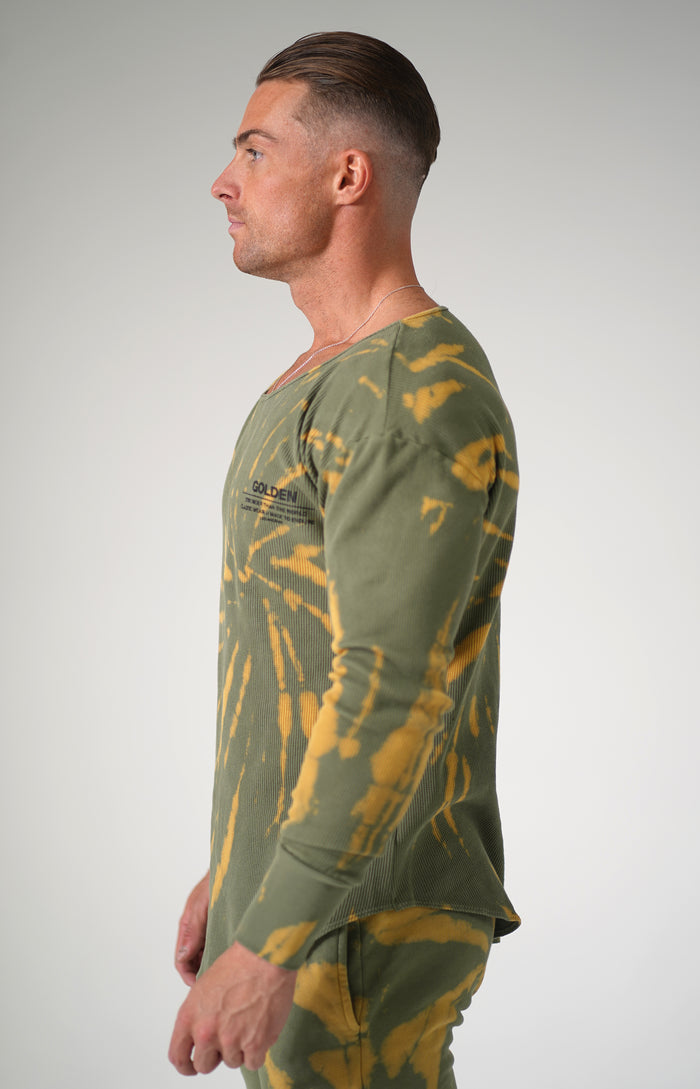 Olive Tie Dye Golden Thermal