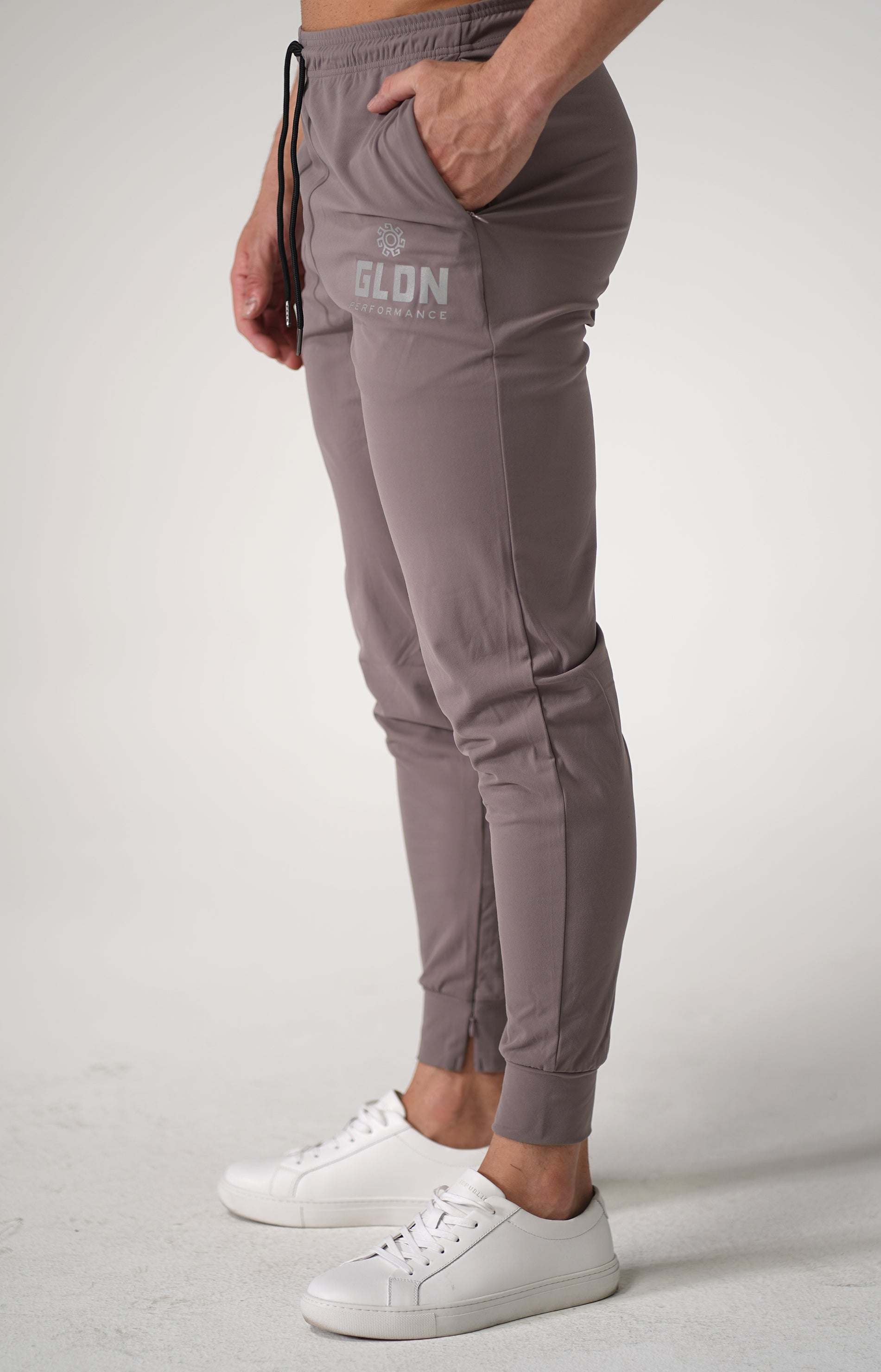Khaki GLDN High Performance Track Pants