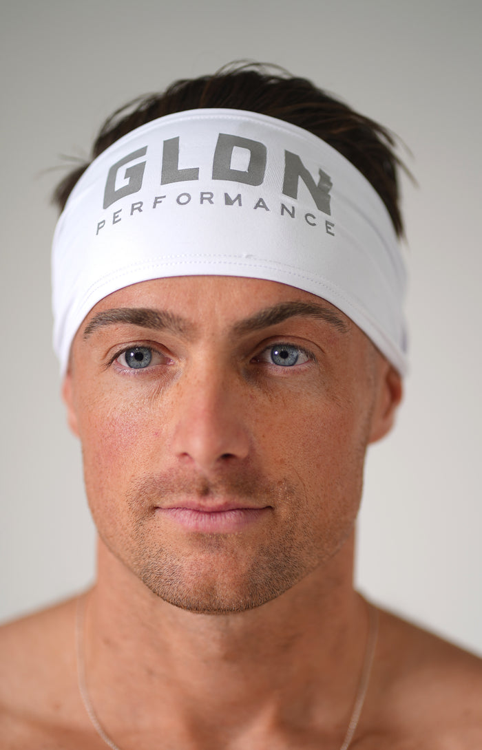 White GLDN High Performance Headband
