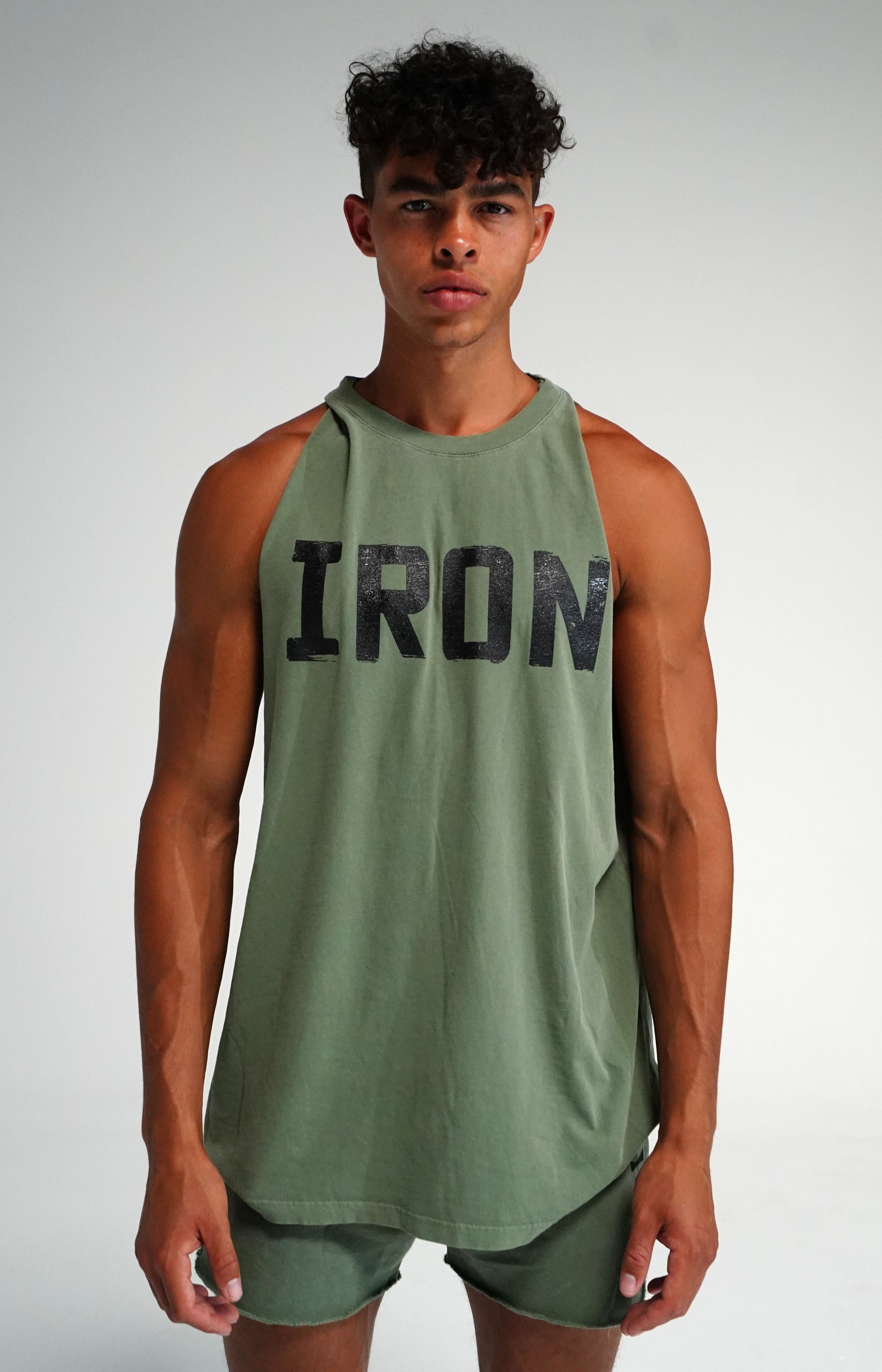 Oversized Faded Army Muscle Tank