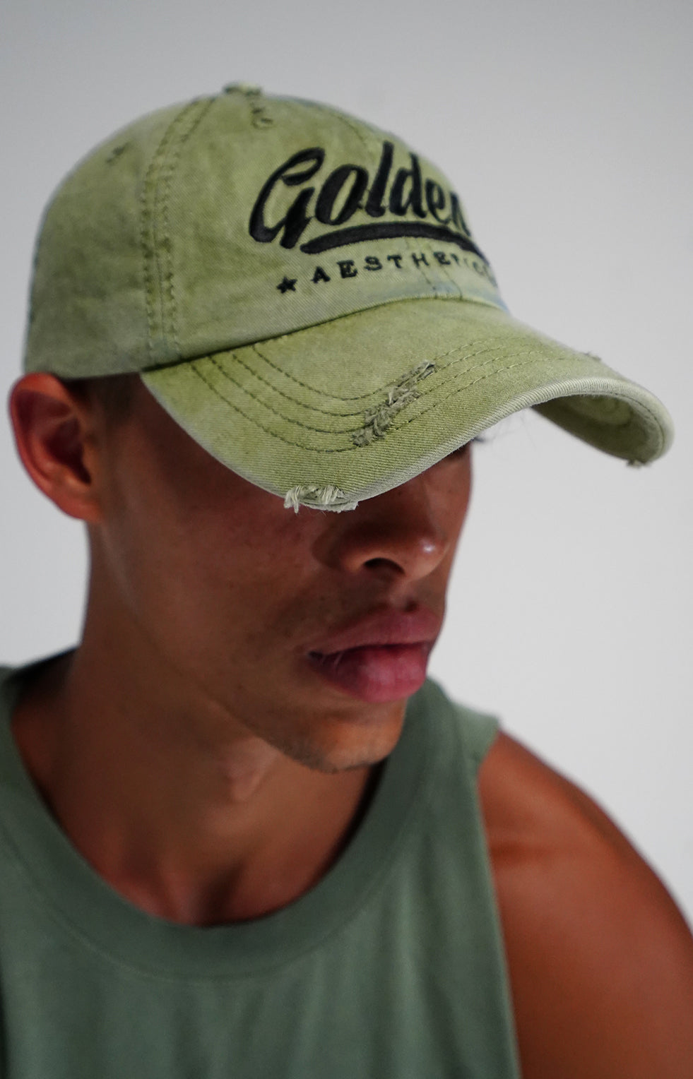 Faded Lime Vintage Hat
