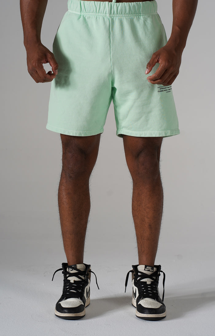 Mint Ash Golden Aesthetics Shorts