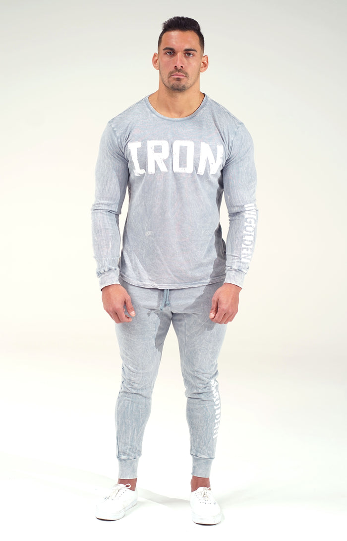 Mineral Grey Crew Neck Long Sleeve
