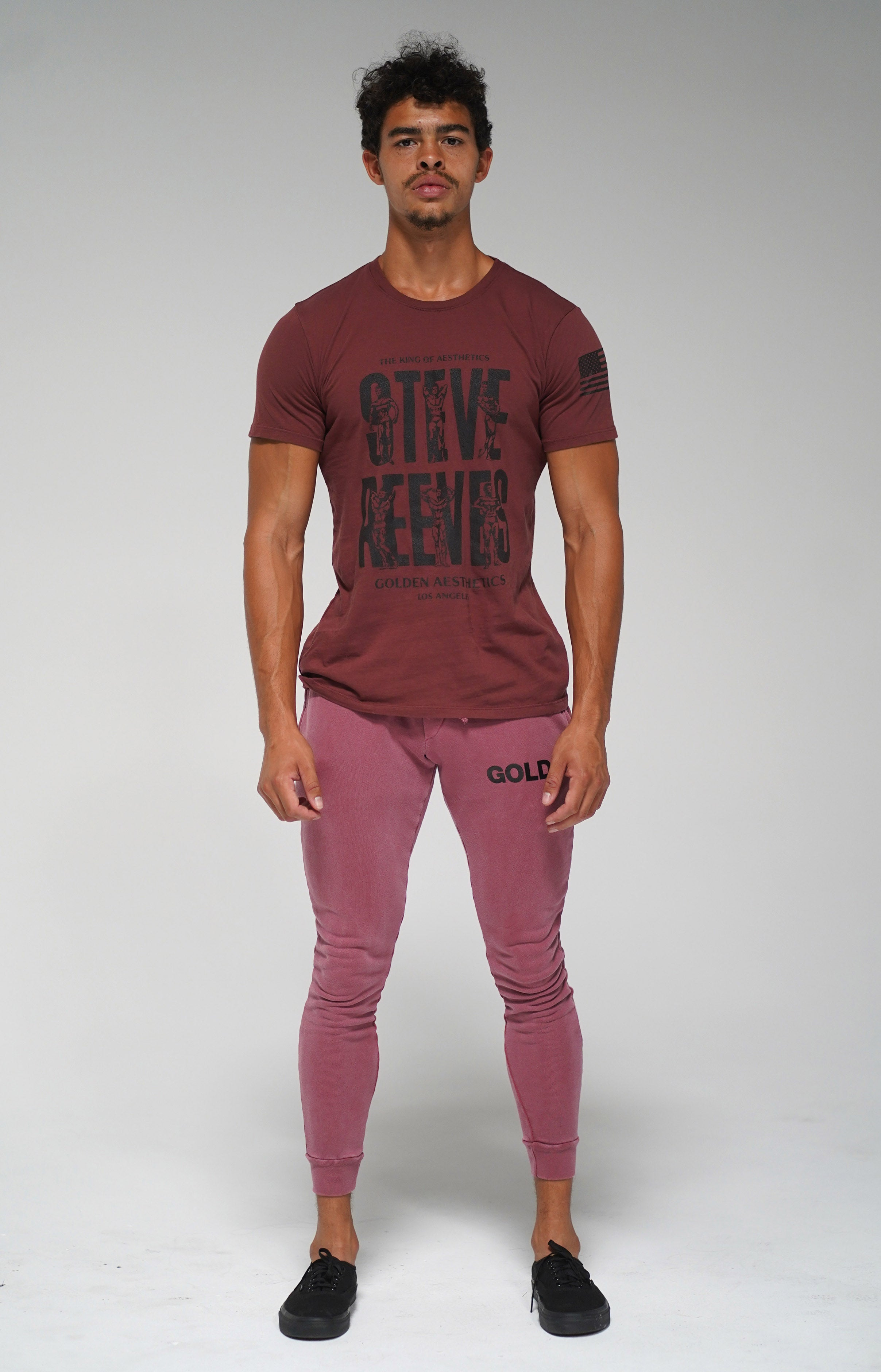 Burgundy Steve Reeves T-Shirt