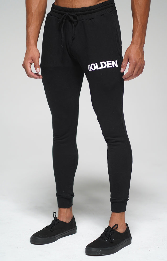 Black Golden Joggers