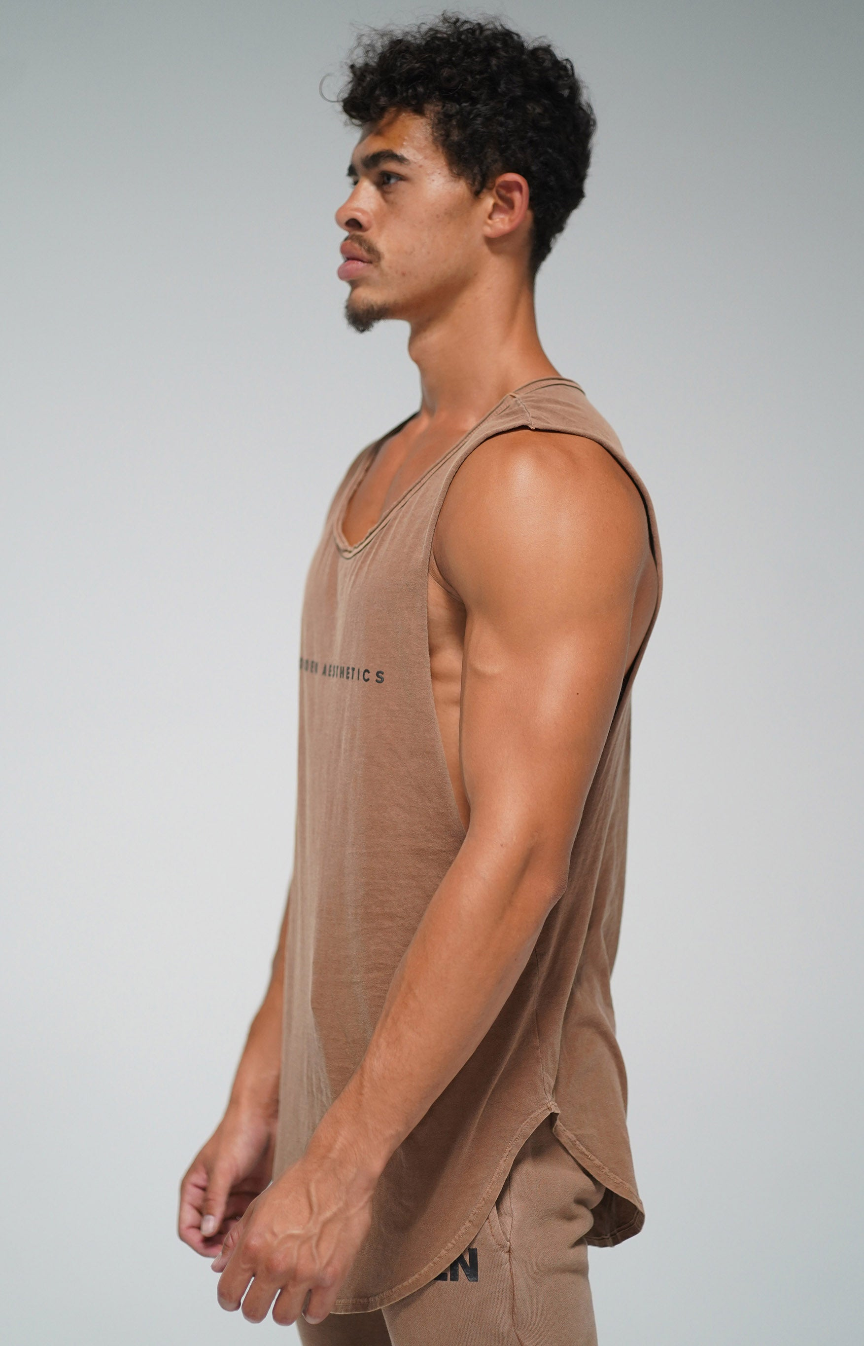 Vintage Brown GA Muscle Tank