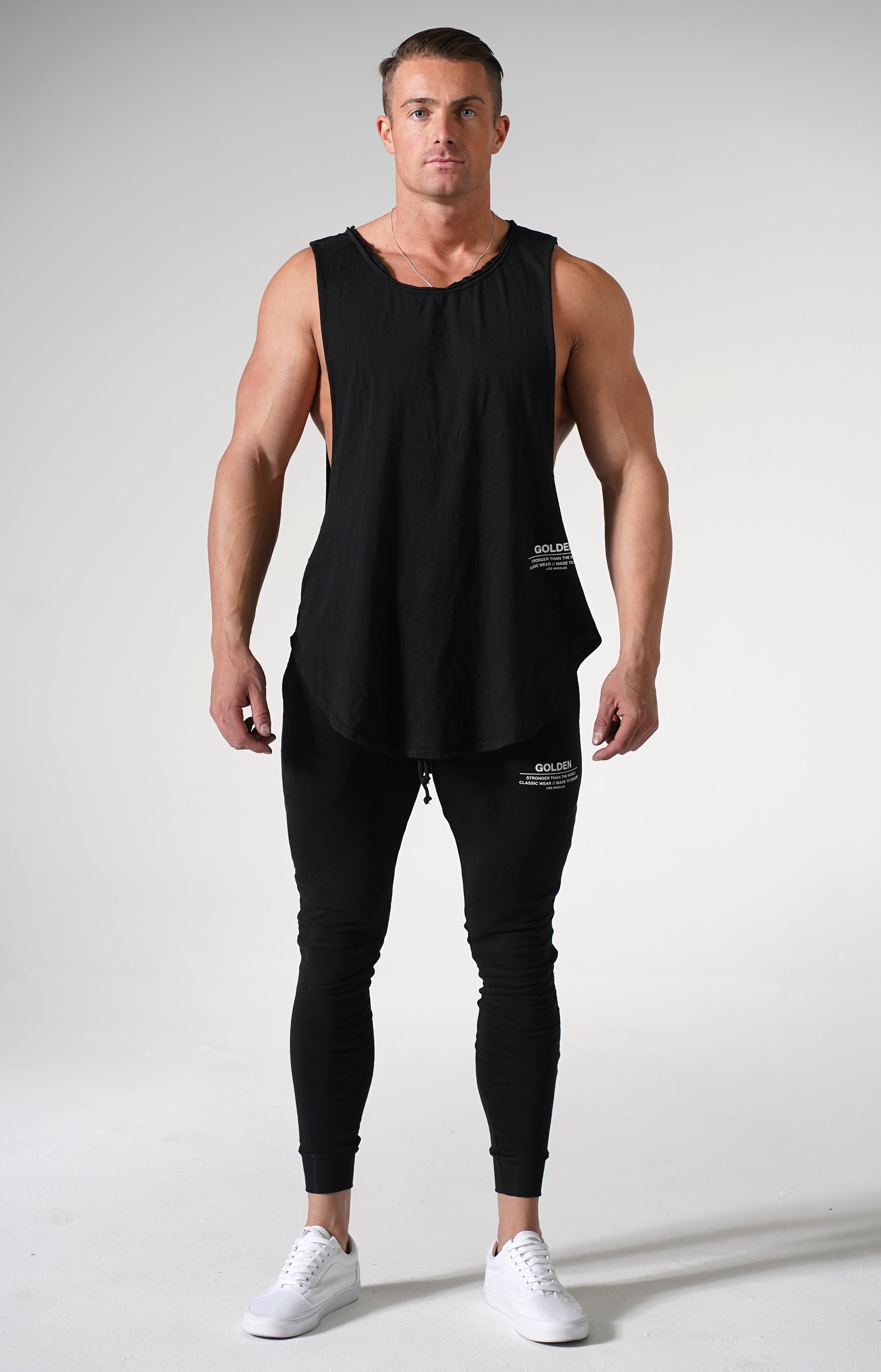 Black Golden Muscle Tank